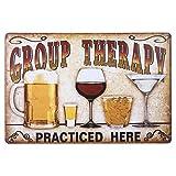 STOBOK Blechschild Group Therapy Vintage Eisen Wandschild Metallschild Türschild Wand Dekoration...