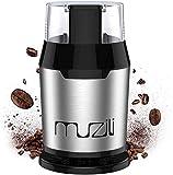 Muzili Elektrische Kaffeemühle, Bohnen-, Nuss- und Getreide mühle mit 304 Edelstahlmessern,...