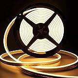 Lamomo LED Strip Warmweiss, 12V Dimmbar Neon LED Streifen, 5M Wasserdicht 3000K LED Lichtband,...