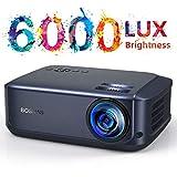 Video Beamer 50000 Stunden, unterstützt 1080P Full HD Heimkino Beamer,6000 Lumen LCD LED Projektor...