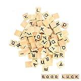 moinkerin 100 Stcke Holzbuchstaben, Puzzle Alphabet A bis Z, Scrabble fr Kinder Lernen