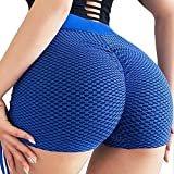 RIOJOY Biker-Yoga-Shorts mit Tasche Damen Hohe Taille Yoga Kurze Seitentasche Bauchkontrolle Bike...