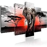 BESTSOON Dekorative Malerei Hotel Wand-Dekor Afrikanischer Elefant Moderne Hauptdekoration Malerei...