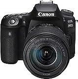 Canon EOS 90D Spiegelreflexkamera (32,5 MP, 7,7 cm (3 Zoll) Vari-Angle Touch LCD, APS-C Sensor, 4K,...