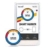 Golfwith golfzon Smart Marker Voice GPS Golfball Marker für iOS und Android, Herren, Schwarz