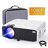 Beamer APEMAN Mini Beamer 1080P Full HD Video Projiziert mit Tasche Geräuscharm Projektor LED 50000...
