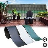 interGo 10 Stück Hart PVC Sichtschutzstreifen, Sichtschutz Windschutz Garten für...