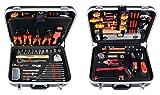 Projahn 8683 Werkzeugkoffer ELEKTRO 128-tlg. , Werkzeug Kasten / Nuss Satz / Ratschen Satz mit...