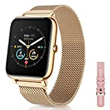 CanMixs Smartwatch, Fitness Armband Tracker 1,4 Voller Touch Screen Fitness Uhr IP67 Wasserdicht...