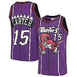 Männer Basketbal Jersey NBA Toronto Raptors Vince Carter 15 Jeugd Ausbildung Sport Ademend Kleding...