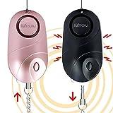 BXROIU 2er Persönlicher Alarm Taschenalarm 140dB Sirene Selbstverteidigung Sicherheit...