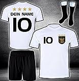 DE-Fanshop Deutschland Trikot Hose Stutzen mit GRATIS Wunschname Nummer Wappen Typ #D 2020 im EM/WM...