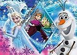 Für den Geburtstag ein Tortenbild, Rechteckig A4, Zuckerbild mit dem Motiv: Frozen Die Eiskönigin,...