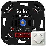 iolloi LED-Dimmer-Schalter, Drehdimmer Unterputz Dimmschalter für Dimmbare LEDs 3–150 W und...