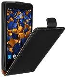 mumbi Tasche Flip Case kompatibel mit LG Spirit 4G Hlle Handytasche Case Wallet, schwarz