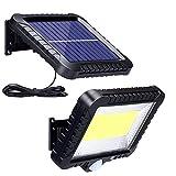 Solarlampen für Außen mit Bewegungsmelder, ZOYJITU 100 LED Strahler Außen 120° Superhelle...