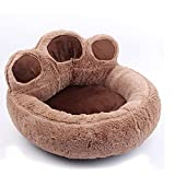 HTSM Hundebett Katze Plüsch Bären Pfote Haustier Bett warmes Bett Katze Nest waschbares Teppich...