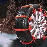Topuality Auto Schneeketten Notfall Anti-Rutsch-Reifengürtel für die meisten Autos SUV Trucks...
