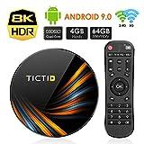 TICTID Smart TV Box【4GB+64GB】 Android TV Box TX6 Plus mit S905X3 Quad-Core Cortex-A55...