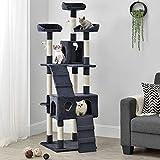 Sam´s Pet Katzen Kratzbaum Amy | grau | 170 cm hoch | Katzenkratzbaum inkl. Höhlen, Liegeflächen,...