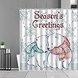 XCBN Farbe Kreative Giraffe Duschvorhänge Cartoon Süße Tiere Bär Bad Vorhang Kinderzimmer...