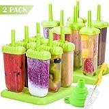 Akrcheft Eisformen, 12Kunststoff Eisformen Popsicle Formen Set, EIS Pop Macher, LGFB Geprüft und...
