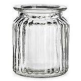 12 x Windlichter im Vintage Look H 9 cm - Teelichtglser Glaswindlichter Tischdeko fr Hochzeit -...