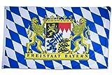 SCAMODA Bundes- und Länderflagge aus wetterfestem Material mit Metallösen (Freistaat Bayern)...