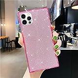 Herbests Kompatibel mit iPhone 12 / iPhone 12 Pro Hülle Quadratisch Glänzend Kristall Bling...