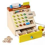 YYXA Kinderholz Cash Register Spielzeug-Simulation Game House Spielzeug Rechnungen Und...