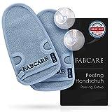 FABCARE Peelinghandschuh - DERMATEST SEHR GUT - 2 Stück - Reinigt Porentief für Körper & Gesicht...