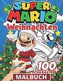Super Mario malbuch weihnachten: Weihnachtsmalerei für Kinder - Malbuch für Kinder 2 bis 4 Jahre,...