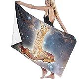 fdghjdfghjfhjd Strandtücher,Yogahandtücher Beach Towels for Women Men Bacon Cats In Space Bath...
