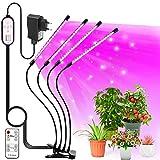 LEHXZJ Pflanzenlampe LED, 4 Heads Pflanzenlicht LED VOLLSPEKTRUM Wachsen Licht 80 LED Grow Light...