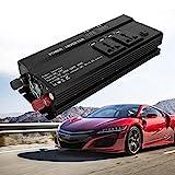WYZXR Auto-Wechselrichter, Fahrzeugadapter 5000W 12V bis 220V LCD-Display Auto-Wechselrichter...