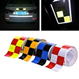 4 Farben 5cmx4m Reflektorband Sicherheitsband Warnklebeband Reflexionsfolie Reflexstreifen...
