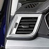 WYYYFA Autodekorationsrahmen Für Audi Q5 2018, Chrom Innenraum modifizierte Auto Aufkleber...