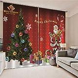 Verdunklungsgardine Geschenk Weihnachtsbaum Thermovorhang Verdunkelung Vorhänge Blickdicht...