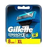 Gilette Mach3 Turbo Rasierklingen für Männer, 8 Stück