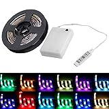 Stimmungs-Beleuchtung LED Light Bar 50-200CM RGB LED Streifen-Lichter mit Batterie-Box Wasserdichte...