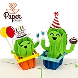 PaperCrush Pop-Up Geburtstagskarte Kaktus [NEU!] - Lustige 3D Popup Karte zum Geburtstag,...