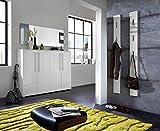 ambiato 3-TLG. Garderoben-Set Isabell, Schuhschrank Spiegel Garderobenpaneel in Weiß