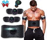 ROOTOK EMS Trainingsgerät Muskelstimulator,Bauchmuskeltrainer Elektrisch,Fitnesstraining,LCD...