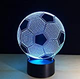 APP Control Smart Lamp 7 Farben Ändern 3D Illusion Lampe Fußball Nachtlicht 3D Visuelle Lichter...