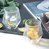 Fiaoen Whiskyglas, 2 STÜCKE 200 Ml Whiskyglas Doppelglas Cocktailglas, Ideal Zum Schenken Und Für...