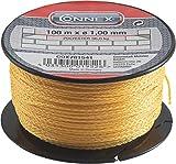 Connex Maurerschnur gelb - 100 m Länge - Ø 1,0 mm - Polyethylen - Knotenfest - Reißfest &...