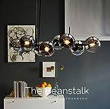 ZMH LED Pendelleuchte esstisch Hängeleuchte mit 8-Flammig Glas Kugel Leuchte Pendellampe...
