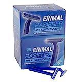 Teqler Einmalrasierer T-370650, rasiert jede Haarlänge sanft, sicher und hautschonend, blau (100-er...