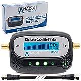 Anadol SF33 LCD Satfinder Messgerät mit Kompass, Ton, Verbindungskabel, deutsche...