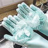 XCVB Pure Silica Gel Rohe Handschuhe Multifunktionale Schwammreinigungshandschuhe Silikon...